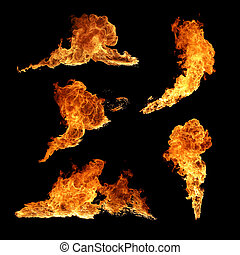 brûler, collection, texture