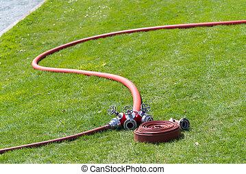 brûler, connecteur, tuyaux