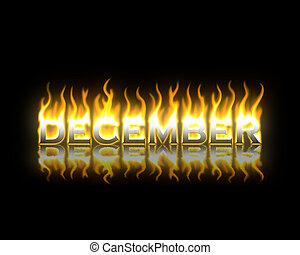 brûler, décembre