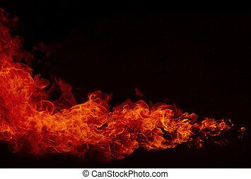 brûler, explosion, fond, flamme, flammes