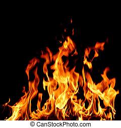 brûler, fin, flamme, haut