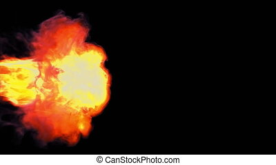 brûler, flamme, 4k