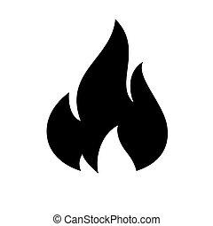 brûler, flamme, icône