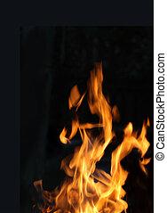 brûler, flamme