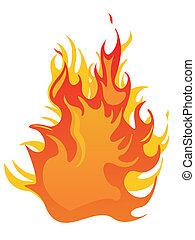 brûler, -, flammes