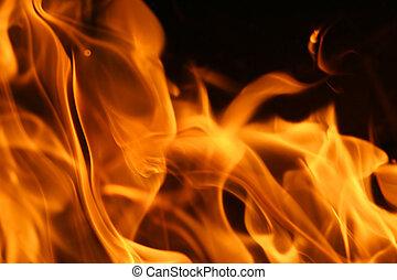 brûler, flammes, fond, texture