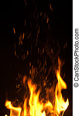 brûler, flammes