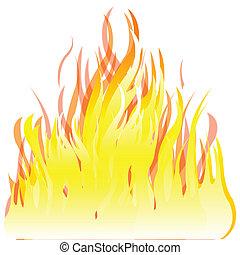 brûler, fond blanc