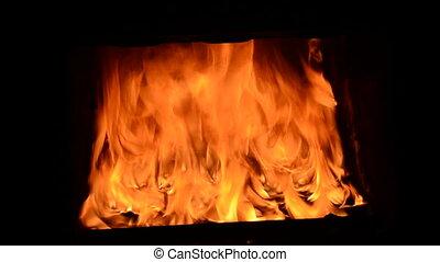brûler, fond, fournaise