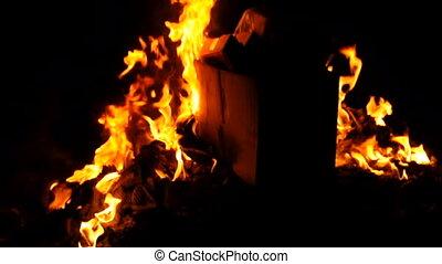 brûler, foyer sélectif, brûlé