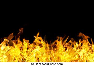 brûler, frontière, seamless, flammes