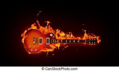 brûler, guitare
