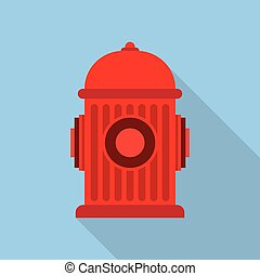 brûler, hydrant., symbole