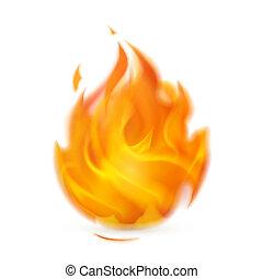 brûler, icône