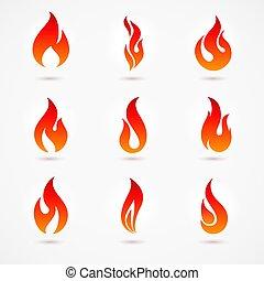 brûler, icônes