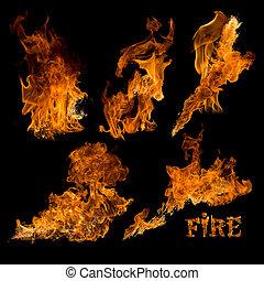 brûler, isolé, collection