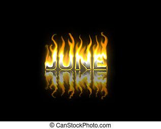 brûler, juin