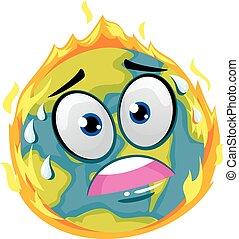 brûler, la terre
