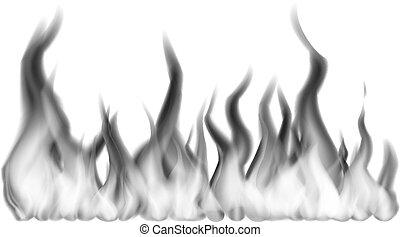 Flamme Feu Dessin Noir Et Blanc
