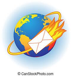 brûler, lettre