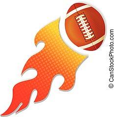 brûler, logo, football