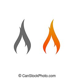 brûler, logo, signe, icône