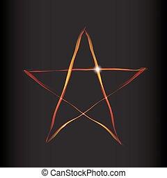 brûler, magie, étoile