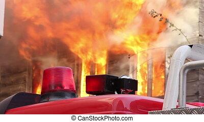 brûler, maison bois