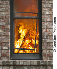 brûler, maison