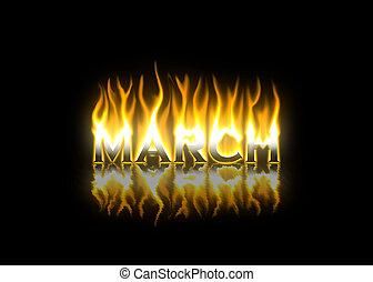brûler, mars