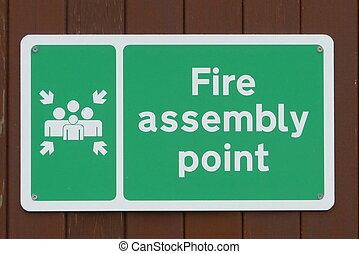 brûler, montage, point, signe