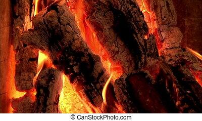 brûler, mouvement, lent