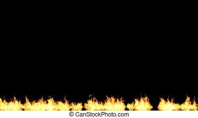 brûler, noir, isolé, fond, allumer