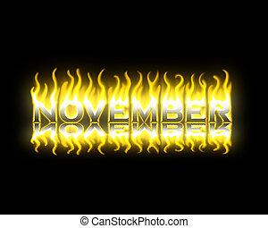brûler, novembre
