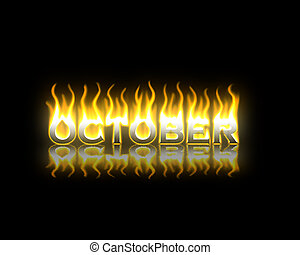 brûler, octobre