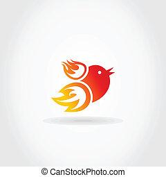 brûler, oiseau