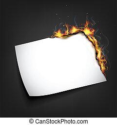 brûler, papier