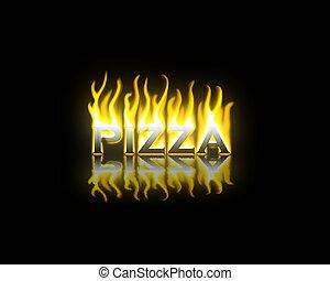 brûler, pizza