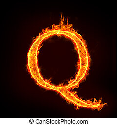brûler, q, alphabets