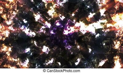 brûler, résumé, couleur, high-tech, verre, émission, boucle, résumé, multi, motifs, hd