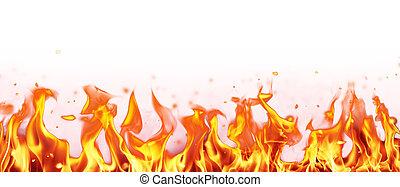 brûler, résumé, flammes, fond