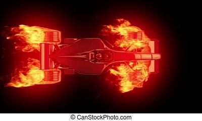 brûler, race voiture, 4