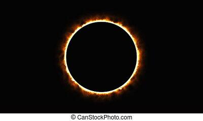 brûler, rendre, gate., fantastique, éclipse solaire, brûlé, ...