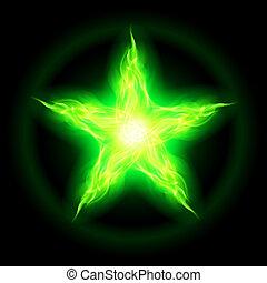 brûler, star., vert