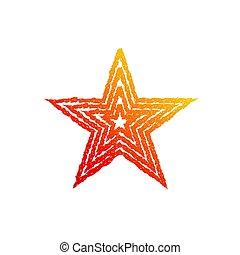 brûler, symbole, étoile