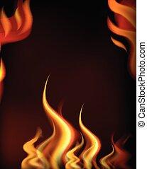 brûler, tempate, chaud, cadre