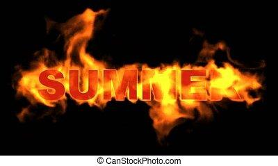 brûler, text., mot, été, brûlé