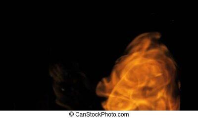 brûler, tir, explosion, balle