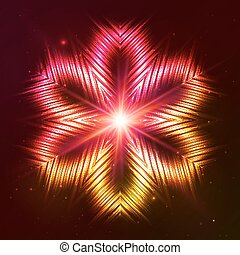 brûler, vecteur, étoile, rouges