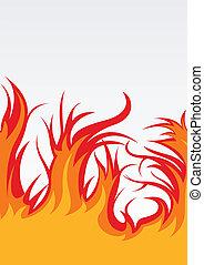 brûler, vecteur, fond